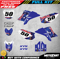 Custom Graphics Full Kit to Fit Yamaha TTR 50 AUSSIE STYLE stickers decals