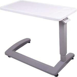 Rolling Over Bed Adjustable Table With Wheels Medical Desk Home Hospital Eating