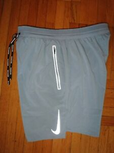 "7"" NIKE Flex Swift Running 2 in 1 LARGE Track SHORTS mens AJ7767 Race Tennis"