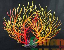 Aquarium Fish Tank Silicone Sea Anemone Artificial Coral Ornament 9101L(R+Y)