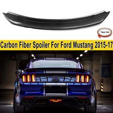 Real Carbon Fiber Black Rear Trunk Spoiler Wings For Ford Mustang S550 2015-2018