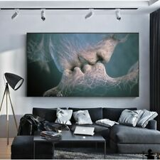 Couple Kiss Art Abstract Wall Canvas Prints Modern Living Room Home Decoration