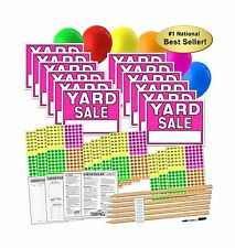 Yard Sale Sign Kit with Pricing Labels and Wood Sign Stakes (A8... Free Shipping