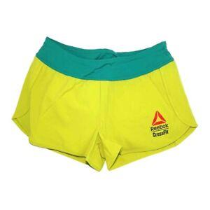 Reebok CrossFit Women's Green 2015 CrossFit Knitted Waistband Shorty Shorts