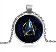DIY  Star Trek Steampunk Moive Glass silver necklace for women men Jewelry