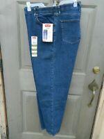Men's Wrangler Five Star Premium Regular Fit Jeans - Blue Denim - Various Sizes