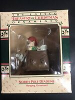 "NOS 1988 Enesco Ornament - ""North Pole Deadline"" Mailbag Mouse"