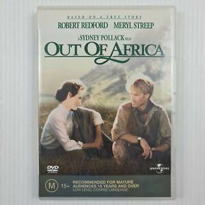 Out Of Africa DVD - Meryl Streep - Robert Redford - Region 4 - TRACKED POST
