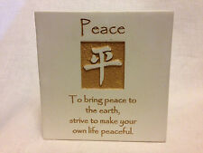 Peace STONE PLAQUE