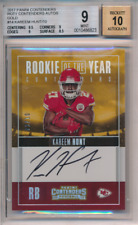 Kareem Hunt BGS 9 Auto 10 Autograph #2 of 10 2017 Contenders ROTY Gold Rookie RC