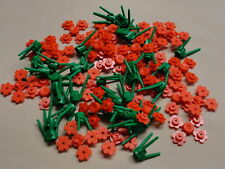 34x Lego flowers RED bulk lot for city house garden