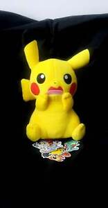 Scared Pikachu Plush + Free Pokemon stickers Banpresto