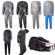 Heavy Duty Fitness Weight Loss Sweat Sauna Suit Exercise Gym Anti-Rips Women Men