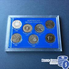 1966-1991 UNC 50c AUSTRALIAN 7 COIN COLLECTION SET