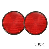 "2Pcs Rear 2"" Round Red Reflectors For Motorcycles ATV Bike Dirt Bike Universal"