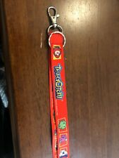 Pre Owned Tamagotchi Neck Strap Lanyard Keychain Memetchi Red In Tact