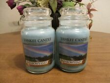 YANKEE CANDLE RAINBOWS END 22 OZ CANDLES LOT OF 2