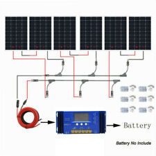 ECO 100W 200W 400W 600W +20% Watt 12V 24V Solar Panel Kit RV Trailer Van US
