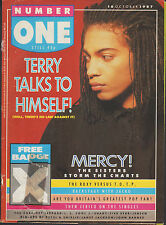 Terence Trent D'Arby on Magazine Cover 1987   Pepsi & Shirlie   Sisters of Mercy
