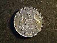 AUSTRALIA - 1 Shilling Coin, 1935, KM26, gVF