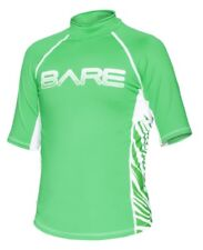 Bare Youth Green Short Sleeve Sunguard Kids Rash Guard 50+ SPF UV Protection 8yr