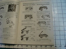 Vintage original Catalog: 1937 HUB CYCLE & RADIO co,. inc. Streamlined bikes etc