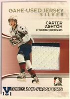 2009-10 ITG Heroes & Prospects Game-Used Jersey Silver Carter Ashton Vault 1/1