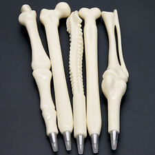 Cute 1x Bone Pen Novelty Ballpoint Bone Shaped Pen Student Nurse Stationery Gift