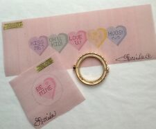 "Petitepoint Gorgeous ""Limoge Style Valentine Box"" 18 ct Canvas w/box hinge! SIM1"