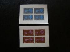 ANDORRE francais - timbre - yt n° 188 189 n** (bloc de 4 non dentele) (Z1)