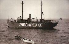 Chesapeake Bay Station, Light Ship, Floating Lighthouse, Virginia VA - Postcard