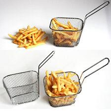 Mini Stainless Steel Chip Fryer Serving Food Presentation Frying Basket  New