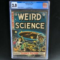 Weird Science #16 (EC Comics 1952) 💥 CGC 2.0 💥 Full page Ad for Mad #1! Sci-Fi