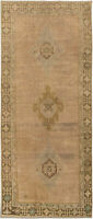"Hand-knotted Turkish Carpet 4'0"" x 9'8"" Anadol Vintage Traditional Wool Rug"