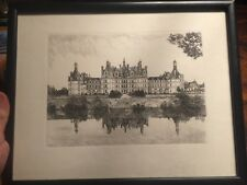 Vintage Paris France artist LEOPOLD ROBIN Engraving etching * French art