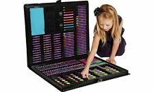 Child 250 Pcs Art Set Case Kit Drawing Painting Chalk Marker Colour Pencils Kids