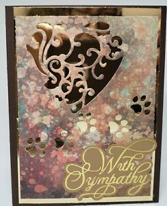 """Handcrafted Greeting Card - """"With Sympathy"""" -  Pet Sympathy Card"""