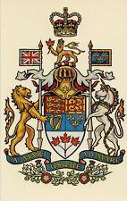 Coat of Arms Parliament Bldgs Ottawa Ontario CANADA Grant-Mann Heraldic Postcard