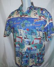 Kahala Aloha Hawaiian Shirt Men's Large with San Diego Padre's Embroidery