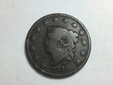 1828 Coronet Head Large Cent, Matron Head, N-5