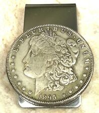 1895 Morgan Dollar Coin Token Not Silver Souvenir Money Clip + Gift Box!