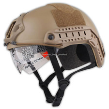 Emerson MH Helmet+NVG Shroud Tactical Airsoft Hunting Adjustable Protection Tan