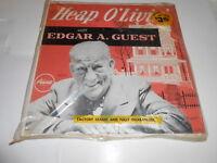 "Poet:Edgar  Guest ,""heap  O' Livin' "", Scarce condition ,lp vinyl,"