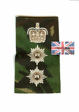 New PAIR DPM Irish Guards Colonel RANK SLIDES ( Foot