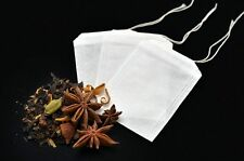 50x Empty Tea Bags - Herbal infuser t2 loose leaves teabags filter paper string