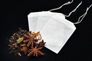 100x Empty Tea Bags - Herbal  infuser t2 loose leaves teabags filter paper