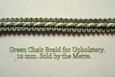 Light Green Upholstery Braid (sold by the mtr) 12m wide