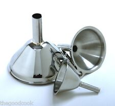 MINI Kitchen Funnel Set of 3 Funnels 18/10 NSF Stainless Steel Sm Med Lrg Norpro