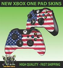 XBOX ONE CONTROLLER PAD STICKER USA FLAG STARS AND STRIPES SKINS X2