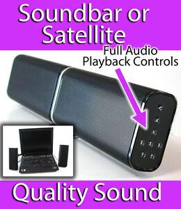 Ravon Cimbali USB Soundbar Speakers Laptop Notebook Tablet Phone OPEN BOX